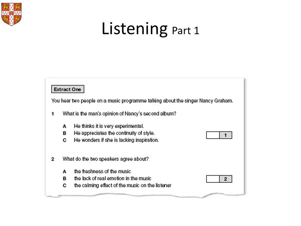 Listening Part 1