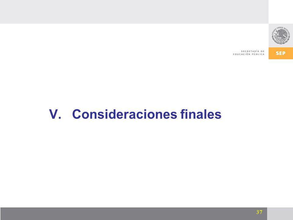 37 V.Consideraciones finales