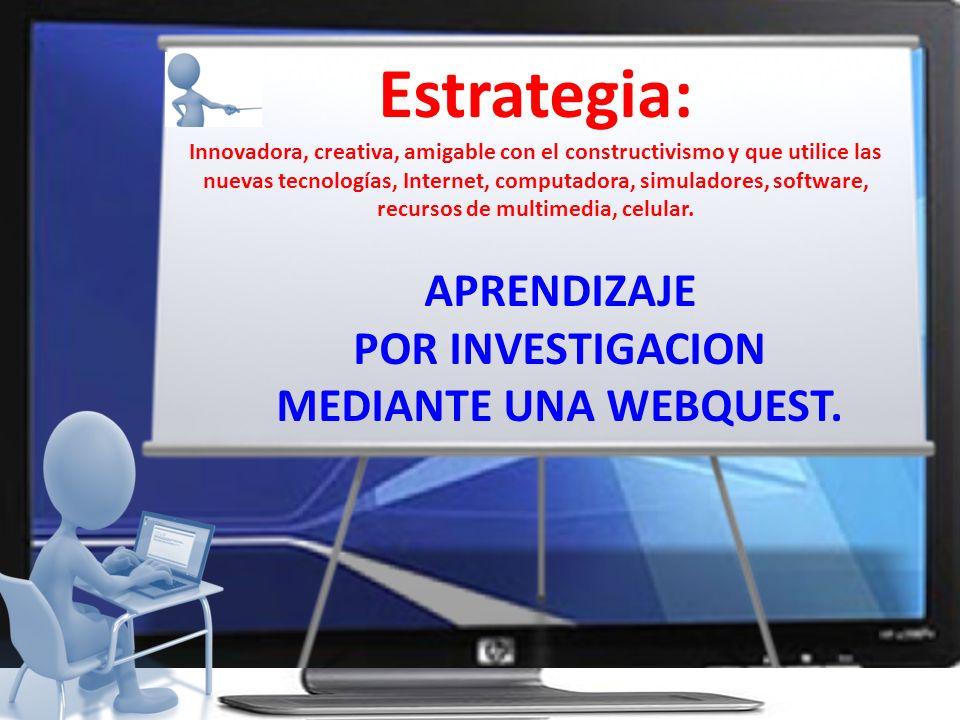 INTRODUCCION TAREAS PROCESO EVALUACION Los elementos de la WEBquest (Actividad de búsqueda de información en la red.)