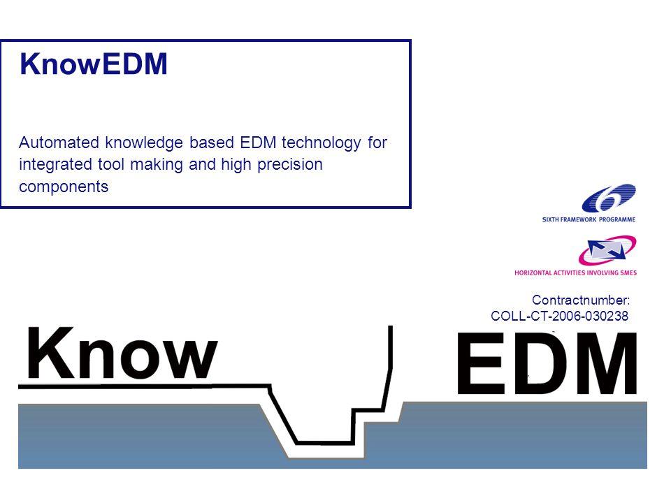 KnowEDM project presentationD8.1 Diseño CAD del molde Mecanizado de cavidades Mecanizado EDM Diseño producto Diseño del molde Fabricación del molde Molde en producción Revisión automática de molde, integración de diferentes niveles de fabricación y mejora de comunicación Fabricación del molde Vertical e Integrada Areas de trabajo