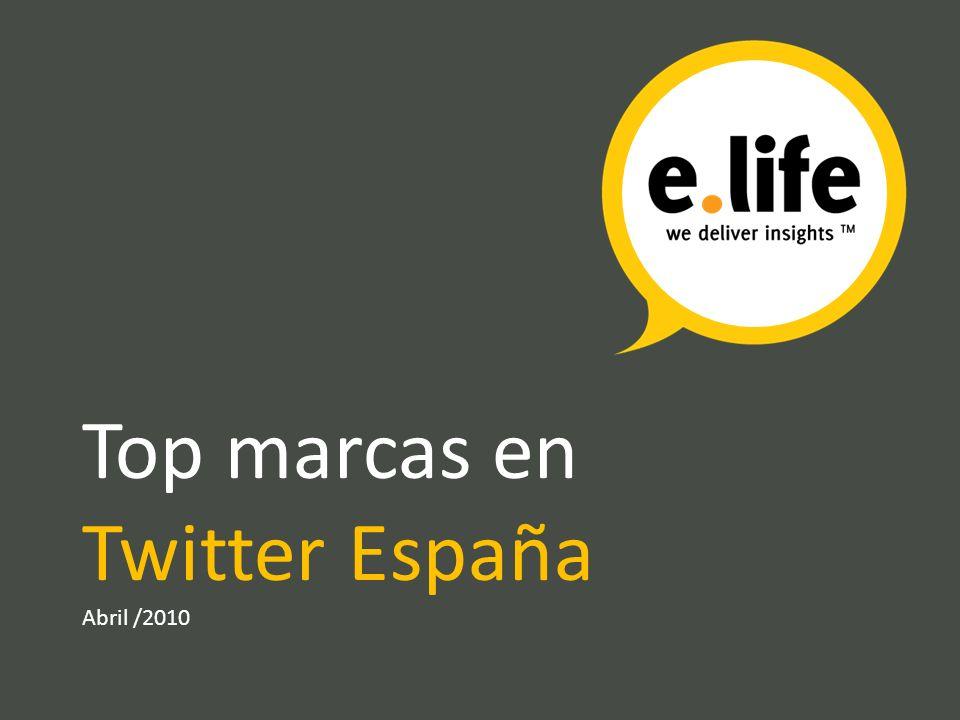 Top marcas en Twitter España Abril /2010