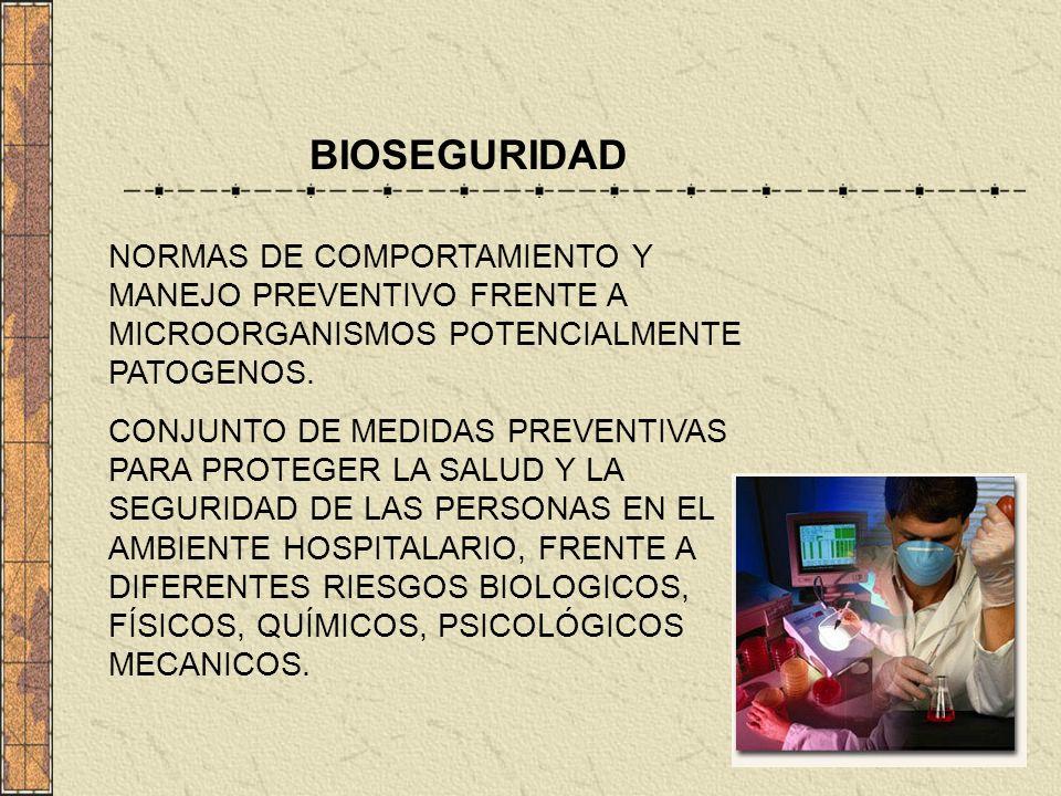 NORMAS DE COMPORTAMIENTO Y MANEJO PREVENTIVO FRENTE A MICROORGANISMOS POTENCIALMENTE PATOGENOS. CONJUNTO DE MEDIDAS PREVENTIVAS PARA PROTEGER LA SALUD