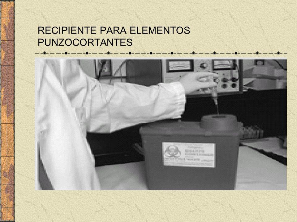 RECIPIENTE PARA ELEMENTOS PUNZOCORTANTES