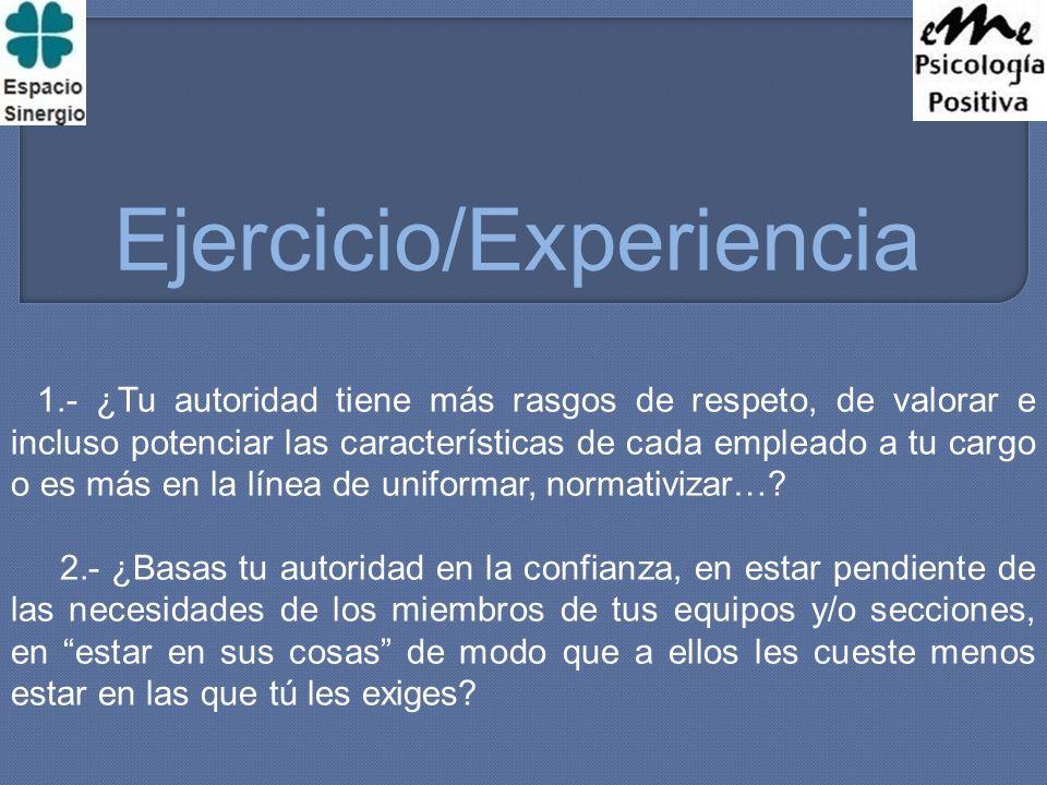 Ejercicio/Experiencia -A - B - B - C - A - D - B - A - C -D - C - A