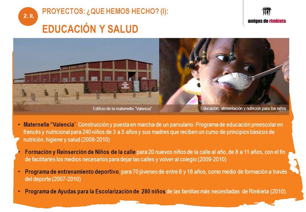 Maternelle Valencia. Construcción y puesta en marcha de un parvulario. Programa de educación preescolar en francés y nutricional para 240 niños de 3 a