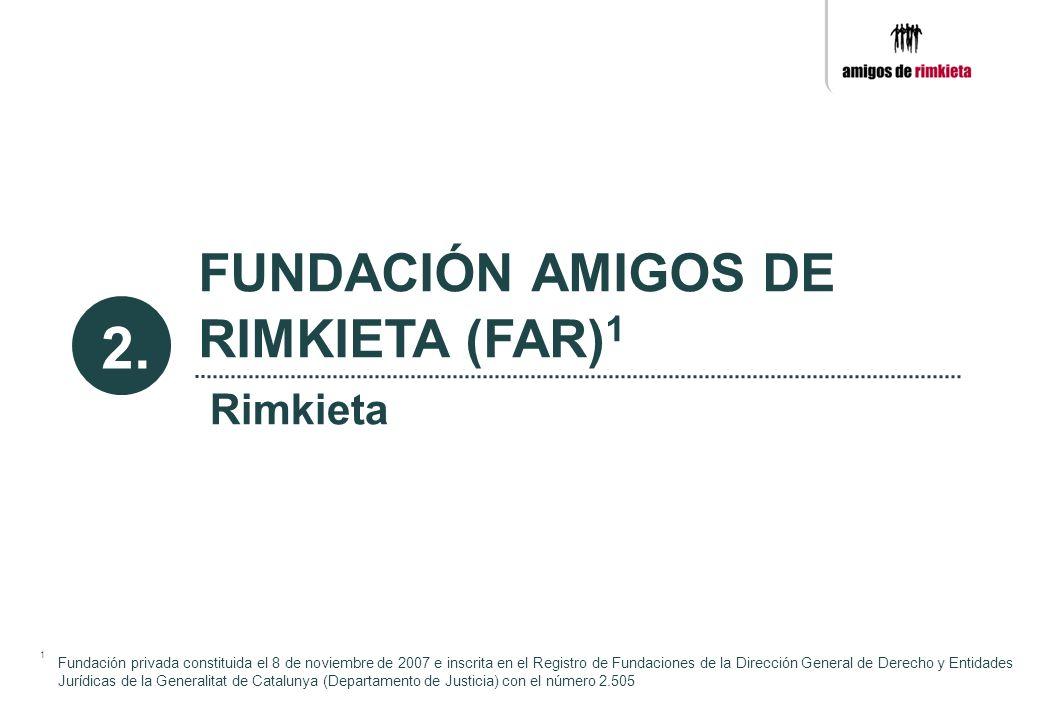 1 Fundación privada constituida el 8 de noviembre de 2007 e inscrita en el Registro de Fundaciones de la Dirección General de Derecho y Entidades Jurí
