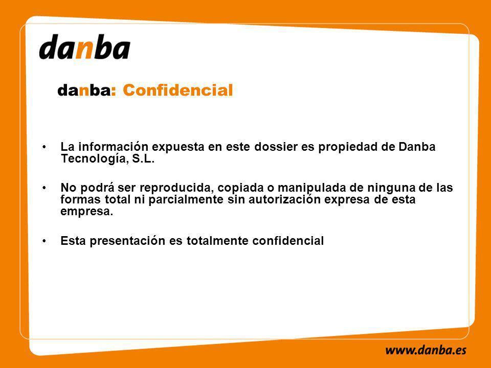 La información expuesta en este dossier es propiedad de Danba Tecnología, S.L.