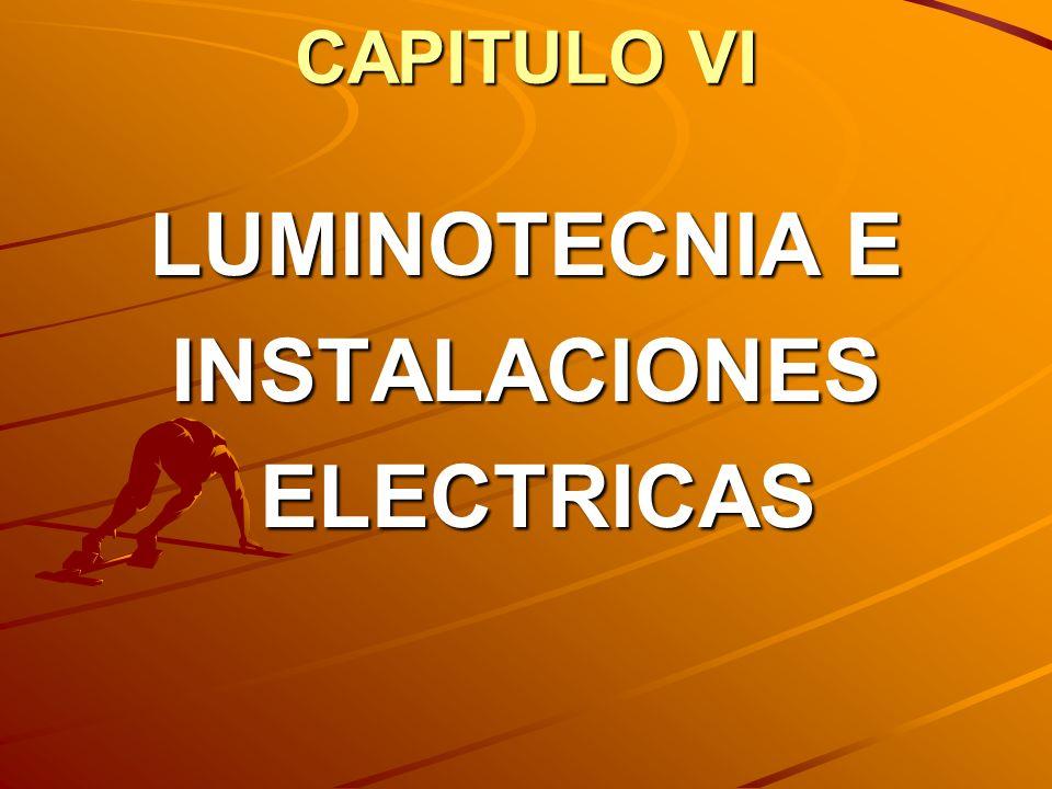 CAPITULO VI LUMINOTECNIA E INSTALACIONES ELECTRICAS ELECTRICAS