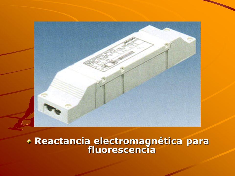 Reactancia electromagnética para fluorescencia