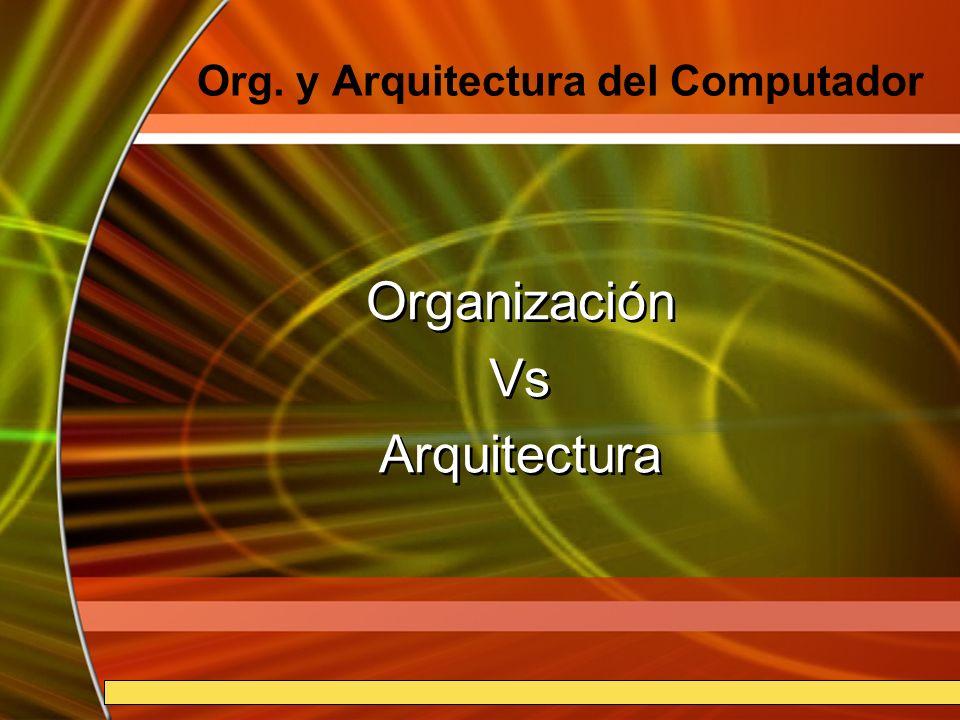 7B-2 Organización Se refiere a las unidades funcionales y sus interconexiones, que materializan las especificaciones de la arquitectura.