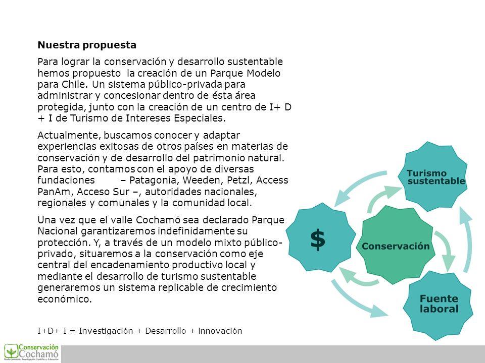 Nuestra propuesta Para lograr la conservación y desarrollo sustentable hemos propuesto la creación de un Parque Modelo para Chile. Un sistema público-