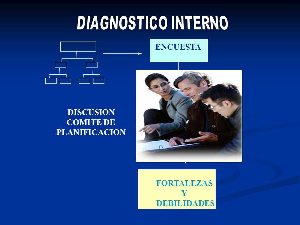 ENCUESTA DISCUSION COMITE DE PLANIFICACION FORTALEZAS Y DEBILIDADES