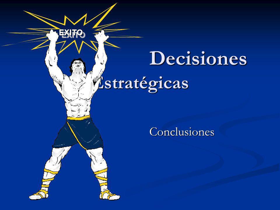 Decisiones Estratégicas Decisiones Estratégicas Conclusiones EXITOEXITO