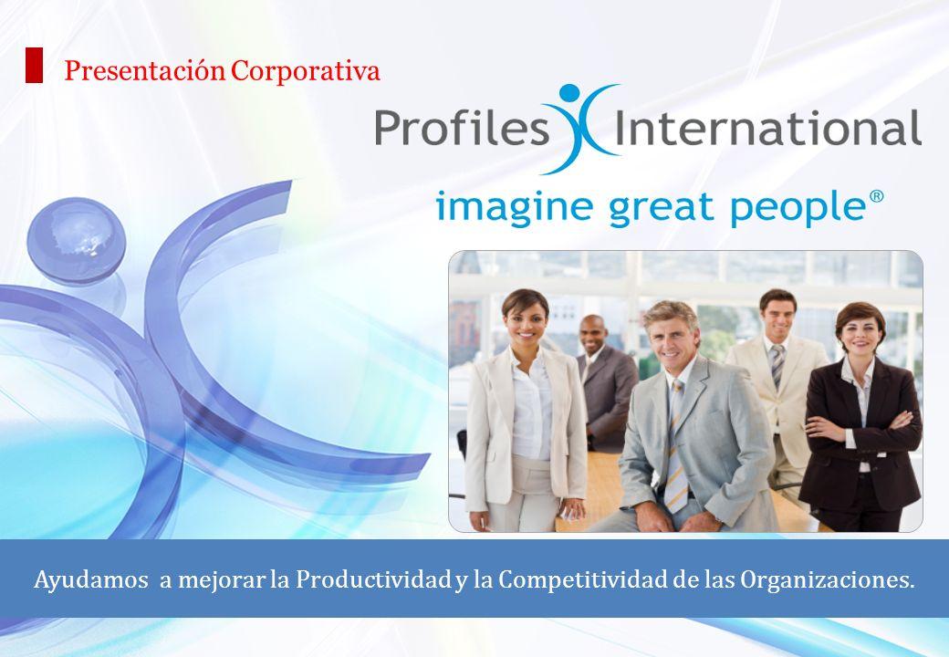 Presentación Corporativa Ayudamos a mejorar la Productividad y la Competitividad de las Organizaciones.