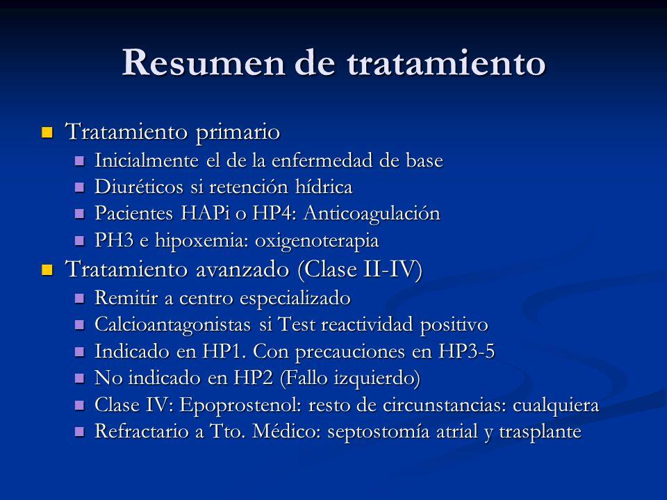 Resumen de tratamiento Tratamiento primario Tratamiento primario Inicialmente el de la enfermedad de base Inicialmente el de la enfermedad de base Diu