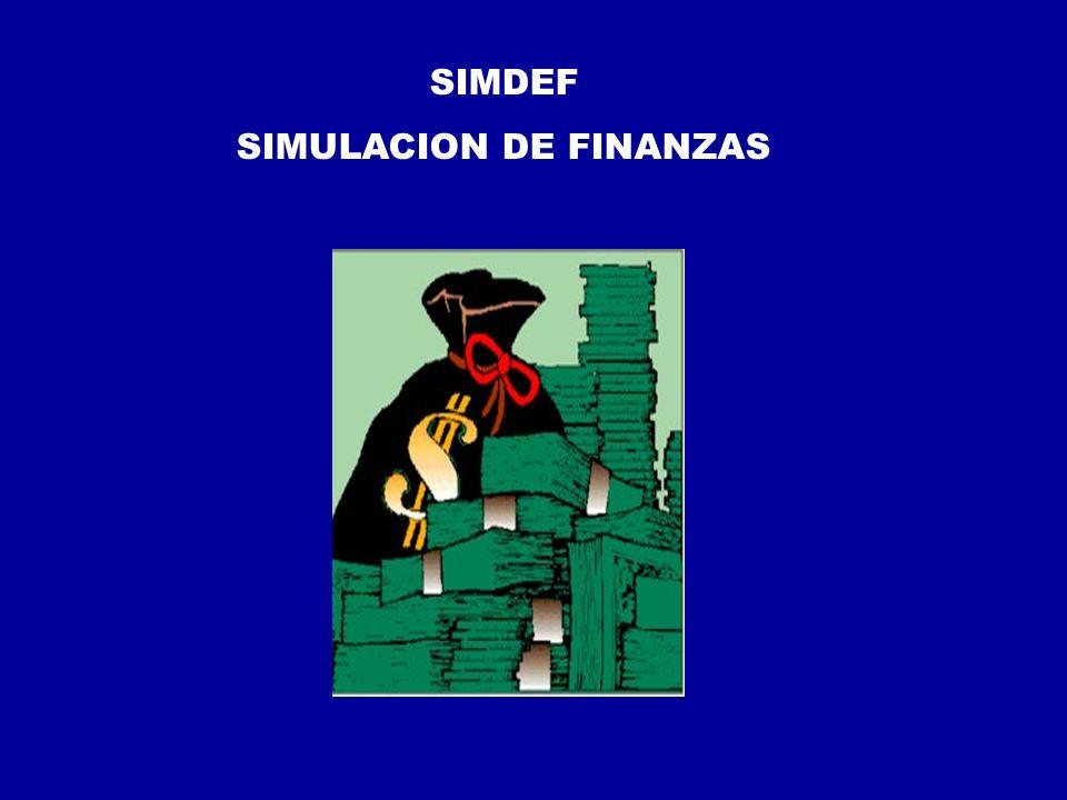 SIMDEF SIMULACION DE FINANZAS