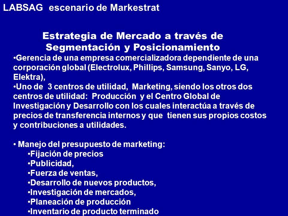 Gerencia de una empresa comercializadora dependiente de una corporación global (Electrolux, Phillips, Samsung, Sanyo, LG, Elektra), Uno de 3 centros d