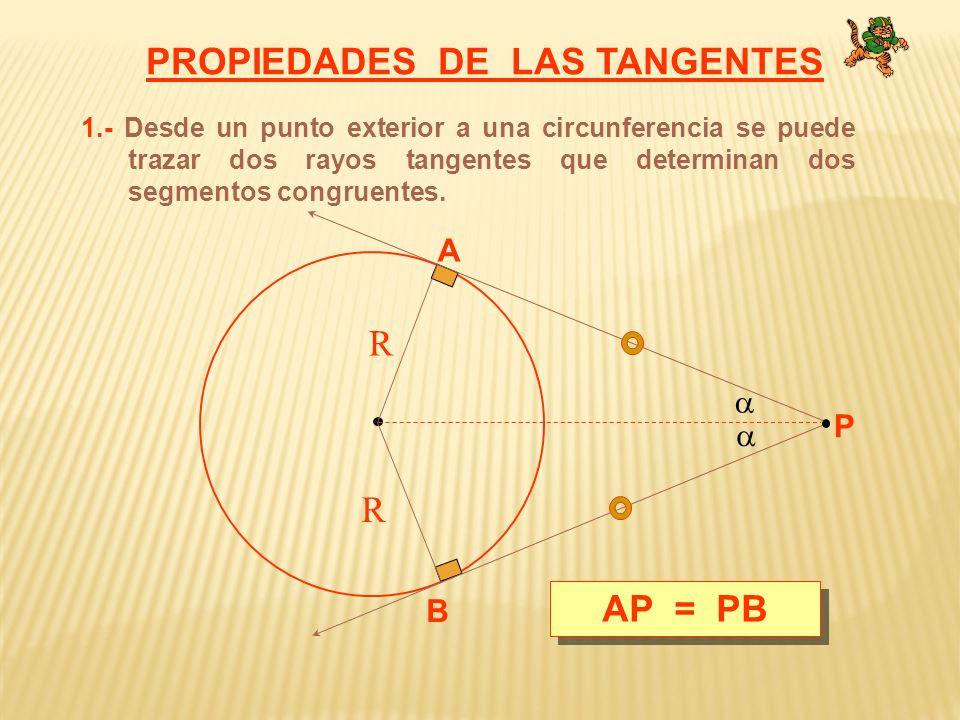 2.- TANGENTES COMUNES EXTERIORES.- Son congruentes AB = CD A BC D R R r r