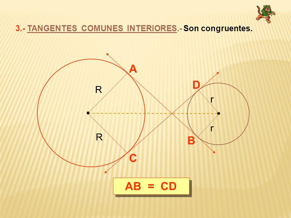 TEOREMA DE PONCELET.- En todo triángulo rectángulo, la suma de longitudes de catetos es igual a la longitud de la hipotenusa mas el doble del inradio.