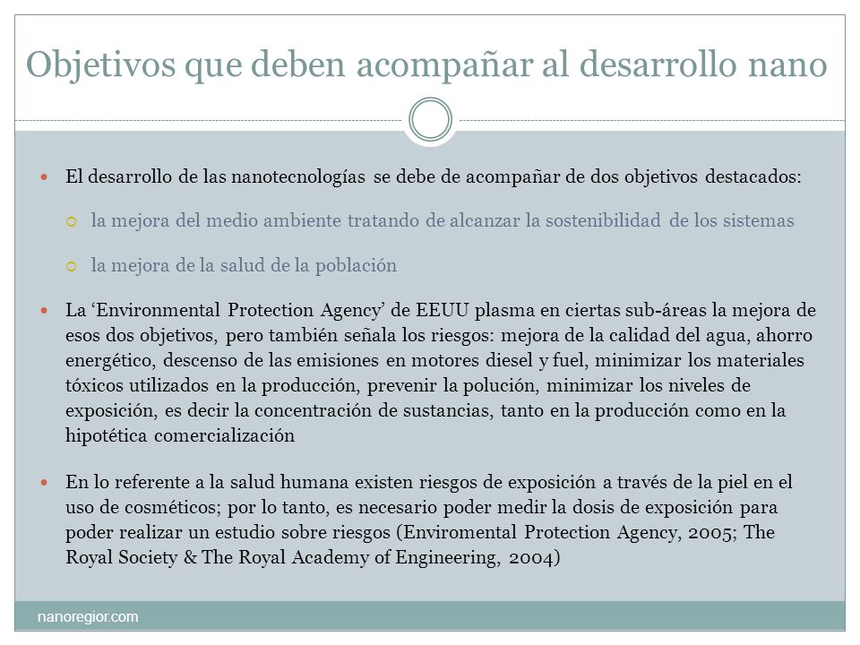Control y regulación nanoregior.com Es necesario el control de las sustancias tóxicas que se encuentran en emisiones químicas, medicinas, alimentos, cosméticos, etc.
