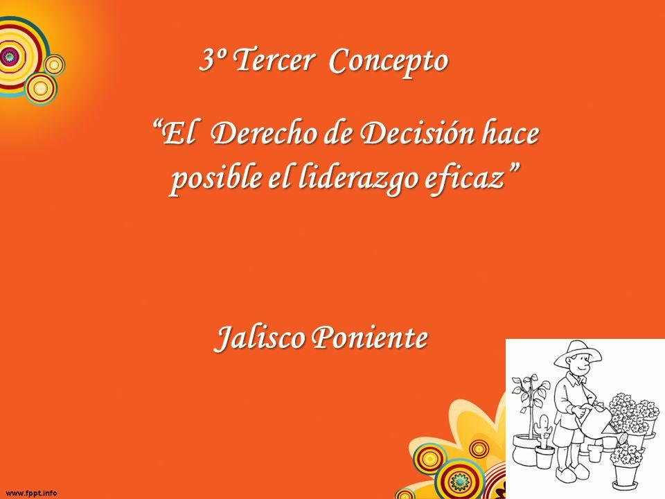 3º Tercer Concepto El Derecho de Decisión hace posible el liderazgo eficaz Jalisco Poniente