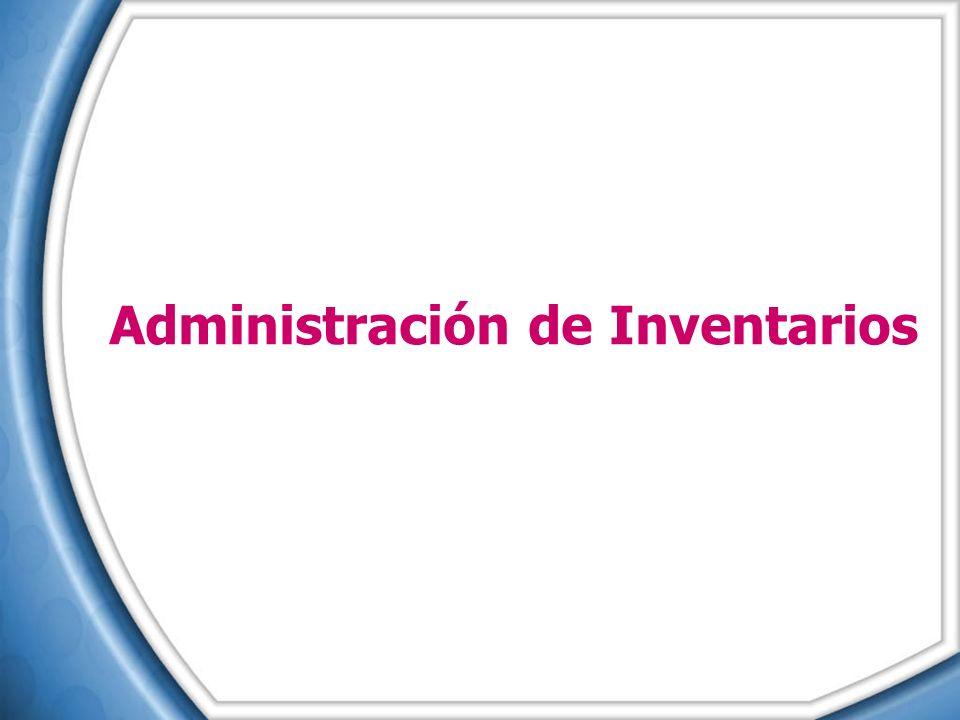 Temario ¿En qué consiste la Administración de Inventarios.