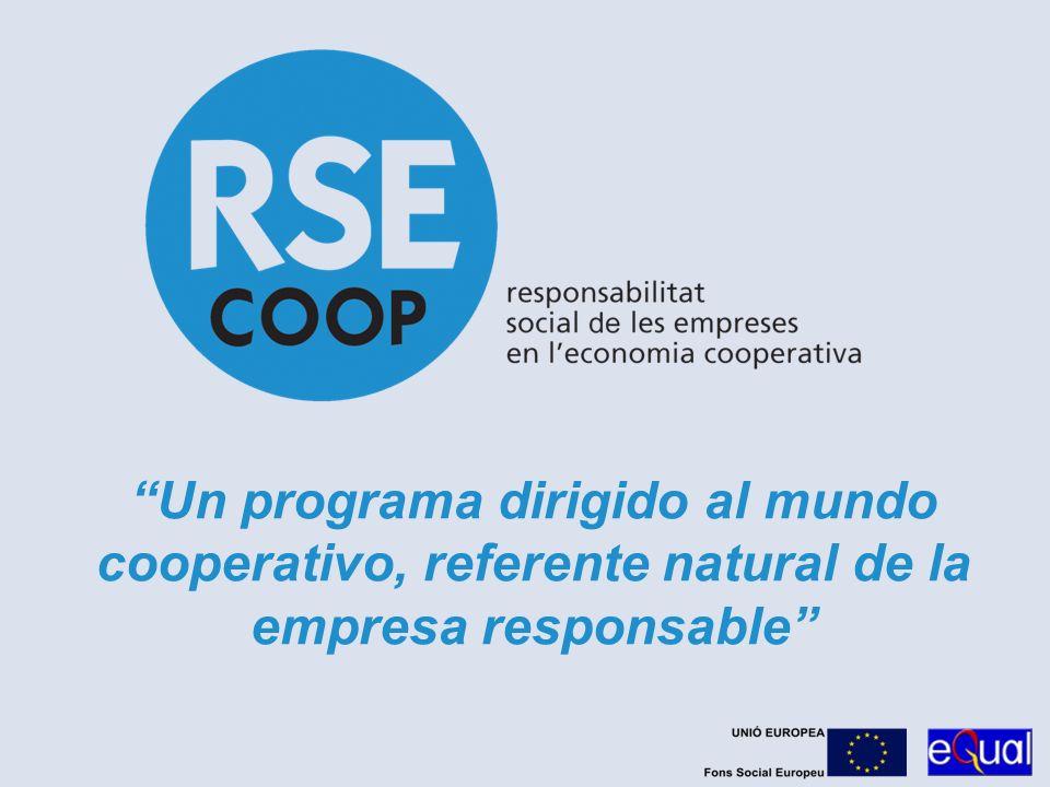 Un programa dirigido al mundo cooperativo, referente natural de la empresa responsable