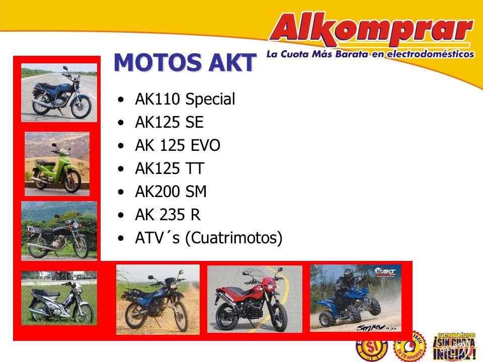 MOTOS AKT AK110 Special AK125 SE AK 125 EVO AK125 TT AK200 SM AK 235 R ATV´s (Cuatrimotos)