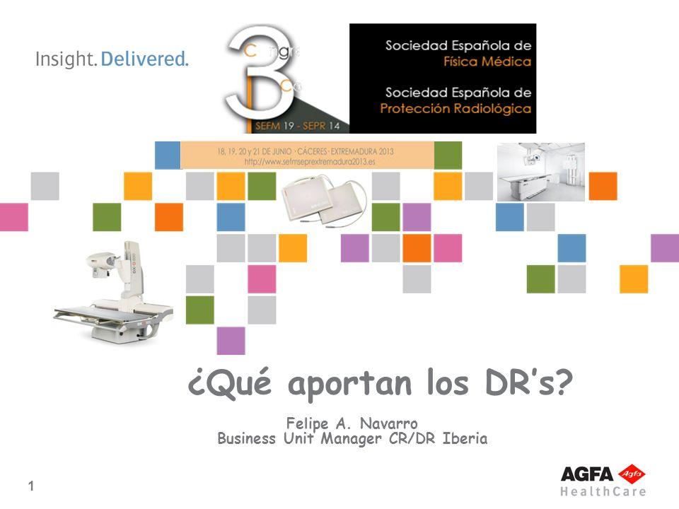 1 ¿Qué aportan los DRs? Felipe A. Navarro Business Unit Manager CR/DR Iberia