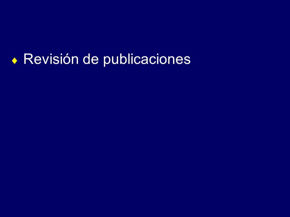 Revisión de publicaciones