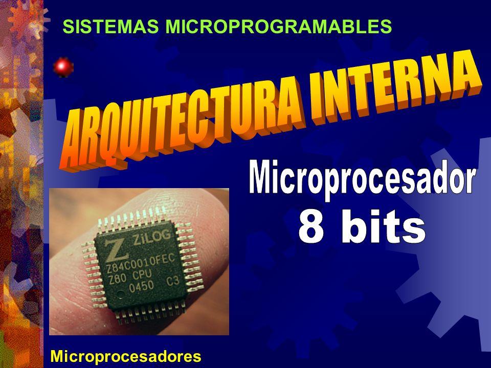 SISTEMAS MICROPROGRAMABLES Microprocesadores