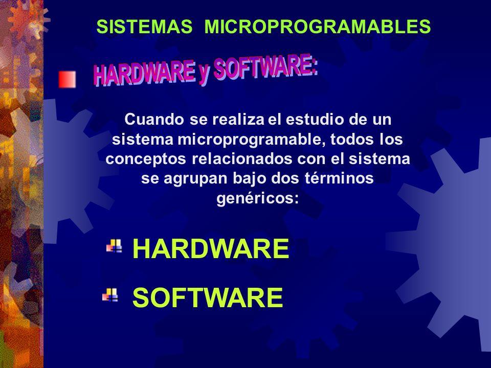 SISTEMAS MICROPROGRAMABLES Cuando se realiza el estudio de un sistema microprogramable, todos los conceptos relacionados con el sistema se agrupan baj