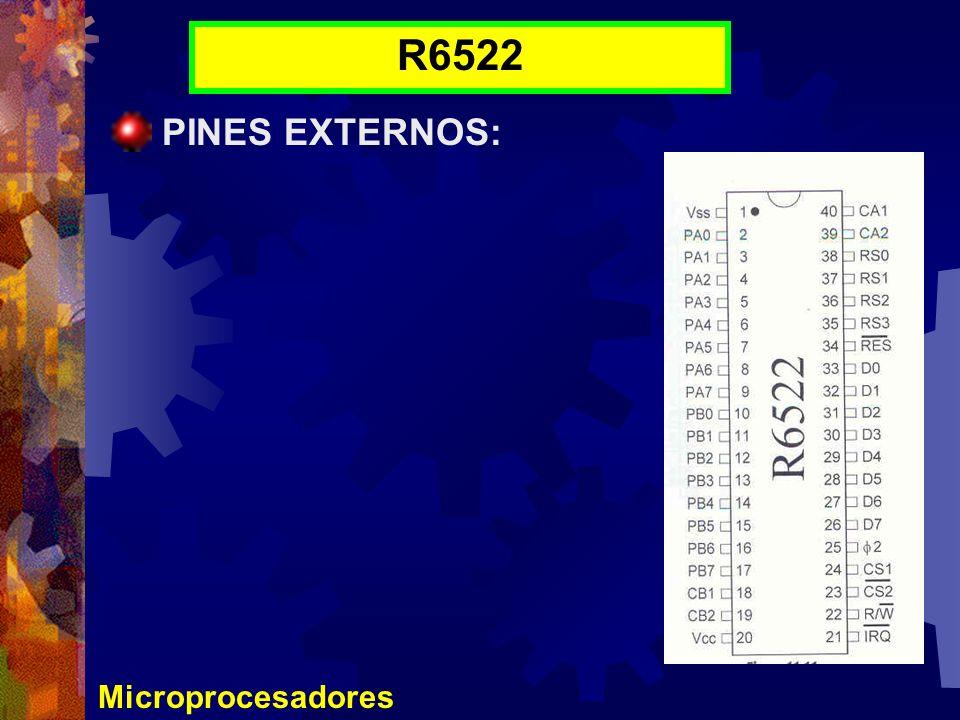 Microprocesadores R6522 PINES EXTERNOS: