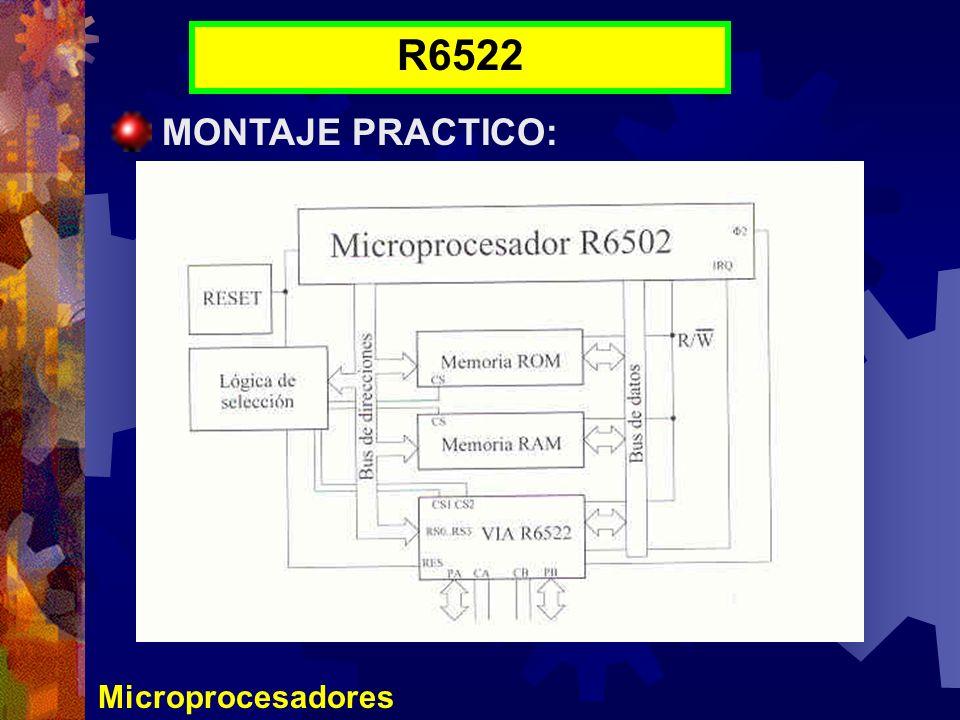 Microprocesadores R6522 MONTAJE PRACTICO: