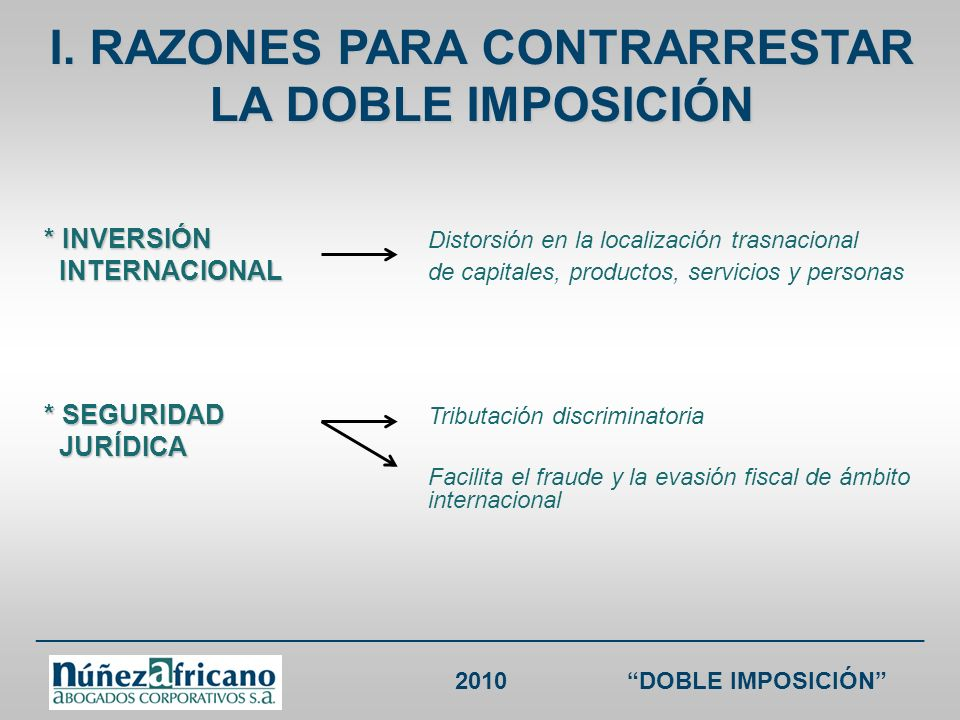___________________________________________________________________ 2010DOBLE IMPOSICIÓN CDI ESPAÑA RENTA España sin CDI España Colombia sin CDI Colombia Intereses18% (i) 10%; (ii) no sujeción si (a) se paga a Colombia o sus entidades..., (b) por venta a crédito de mercancía o equipos o, (c) por créditos de banco u otra institución de crédito colombiana *No aplica para intereses de mora 33% (salvo trato diferenciado) (i) 10%, salvo tratamiento diferenciado en cuyo caso se aplicará éste; (ii) no sujeción si (a) se paga a España o sus entidades..., (b) por venta a crédito de mercancía o equipos o, (c) por créditos de banco u otra institución de crédito española * No aplica para intereses de mora