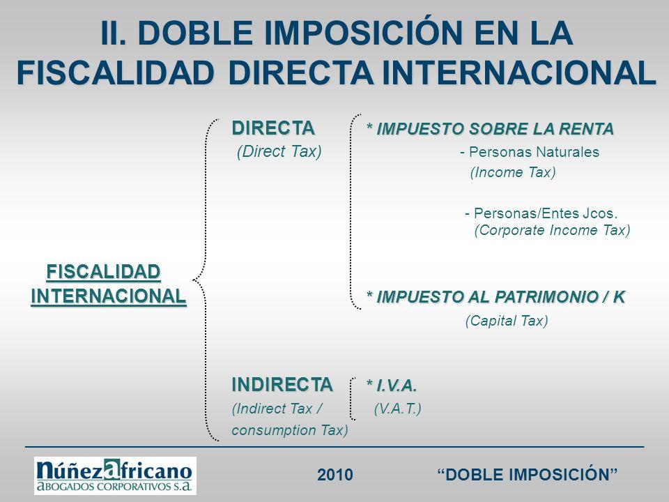 ___________________________________________________________________ 2010DOBLE IMPOSICIÓN CDI CHILE RENTA Chile sin CDI Chile Colombia sin CDIColombia Intereses35% / 4% (i) 15%; (ii) 5% si el beneficiario es un banco o compañía de seguros colombiana * Aplica para intereses de mora 33% (salvo trato diferenciado) (i) 15%, salvo tratamiento diferenciado en cuyo caso se aplicará éste; (ii) 5% si el beneficiario es un banco o compañía de seguros chilena * Aplica para intereses de mora