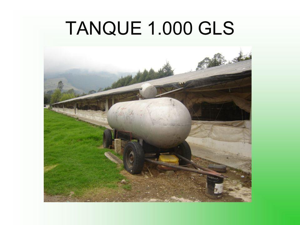 Vaporizacion tanques 70 galones aprox 200.000 btu/h 100 galones aprox 250.000 btu/h 300 galones aprox 350.000 btu/h 500 galones aprox 600.000 btu/h 10
