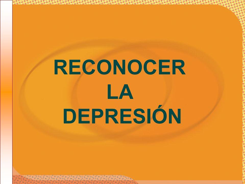 RECONOCER LA DEPRESIÓN