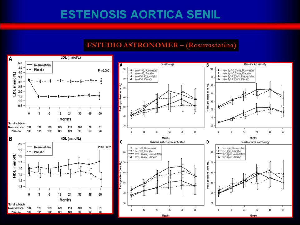 ESTENOSIS AORTICA SENIL ESTUDIO ASTRONOMER – (Rosuvastatina)