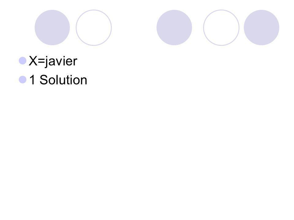 X=javier 1 Solution