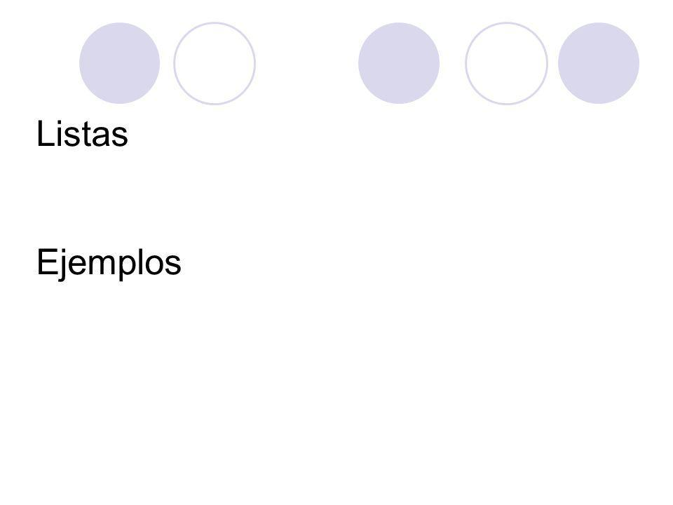 Listas Ejemplos