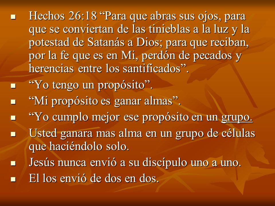 Hechos 26:18 Para que abras sus ojos, para que se conviertan de las tinieblas a la luz y la potestad de Satanás a Dios; para que reciban, por la fe qu