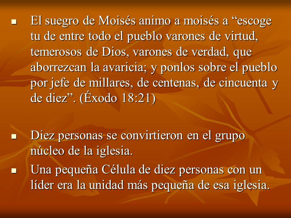 El suegro de Moisés animo a moisés a escoge tu de entre todo el pueblo varones de virtud, temerosos de Dios, varones de verdad, que aborrezcan la avar