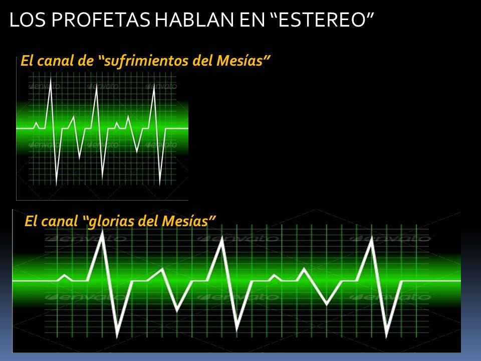 El canal de sufrimientos del Mesías El canal glorias del Mesías LOS PROFETAS HABLAN EN ESTEREO
