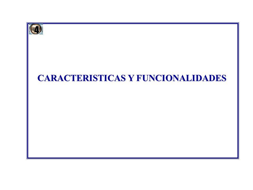 CARACTERISTICAS Y FUNCIONALIDADES 4