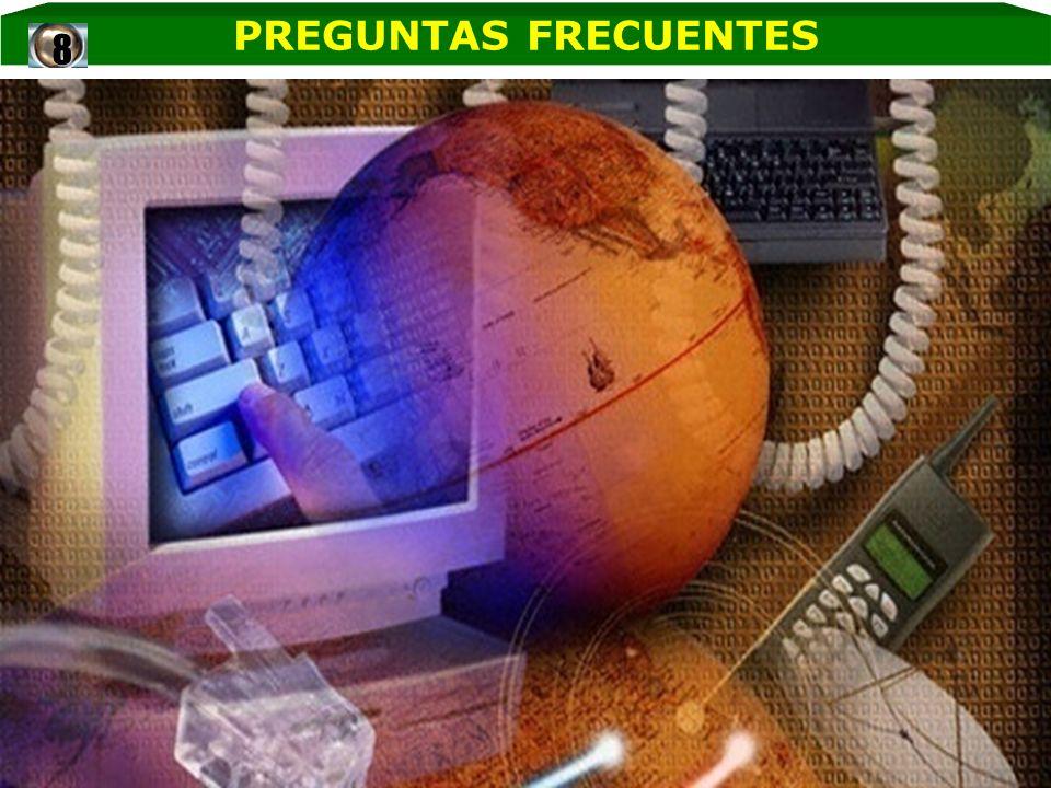 PREGUNTAS FRECUENTES8