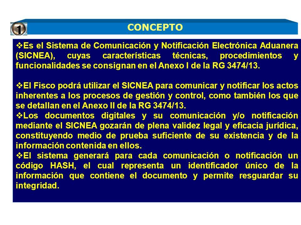 Es el Sistema de Comunicación y Notificación Electrónica Aduanera (SICNEA), cuyas características técnicas, procedimientos y funcionalidades se consig