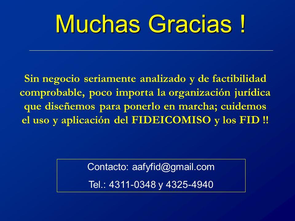 Muchas Gracias .