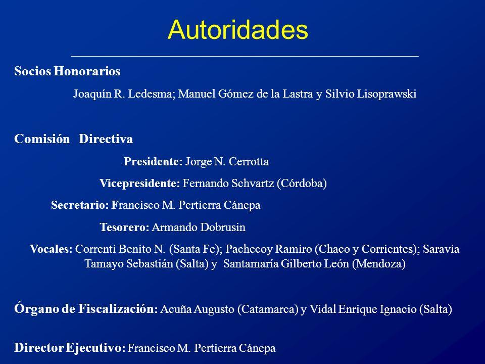 Autoridades Socios Honorarios Joaquín R.