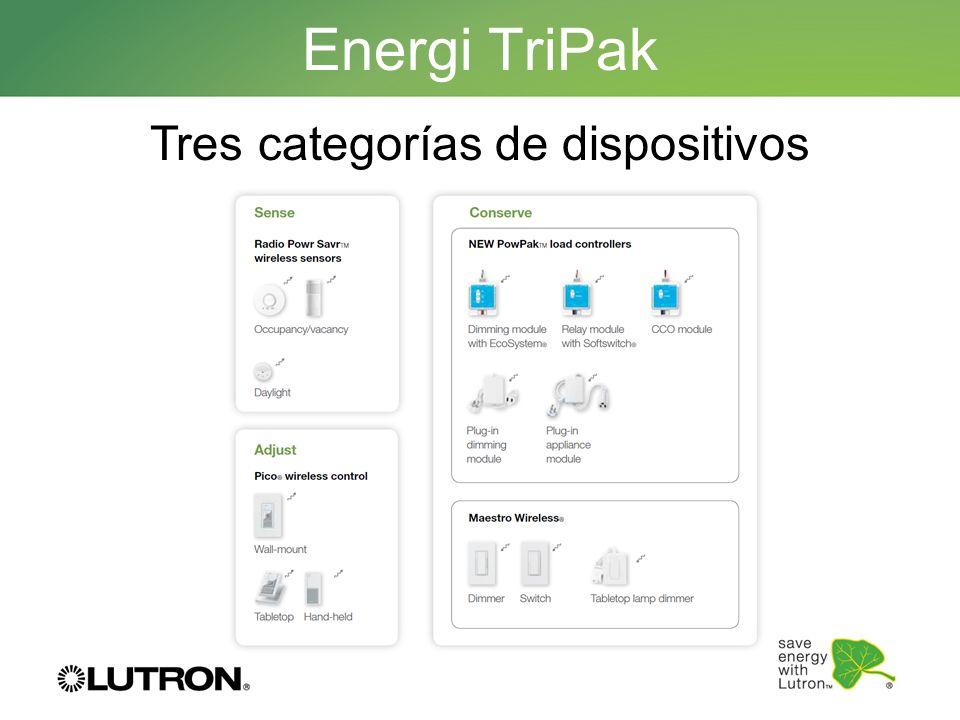 Energi TriPak Tres categorías de dispositivos